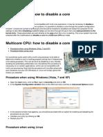 Multicore Cpu How to Disable a Core 616 Mcsaqu