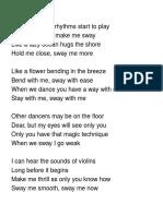 Sway lyrics