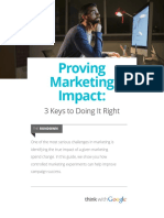 Proving Marketing Impact