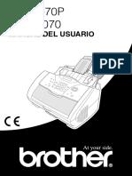 BROTHER 8070P. Manual Español
