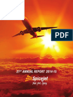 SpiceJet Annual Report 2014-15