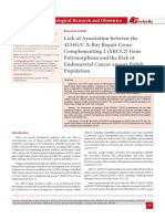 Lack of Association between the 4234G/C X-Ray Repair Cross-Complementing 2 (XRCC2) Gene Polymorphism and the Risk of Endometrial Cancer among Polish Population