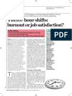 12 Hour Shifts, Burnout or Job Satisfaction 2016