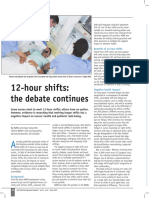 12 Hour Shifts, The Debate Continues, 2015