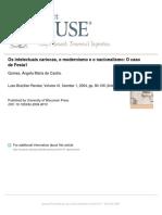 GOMES, Angela de Castro. Os intelectuais cariocas, o modernismo e o nacionalismo.pdf