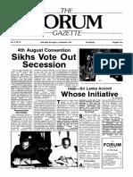 The Forum Gazette Vol. 2 No. 16 August 20-September 5, 1987