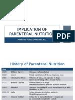 Implication of Parenteral Nutrition