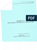 20031002 Session 3 Fiduciary Duties of a Director