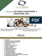 Catalogo de Cursos 2015.Sas