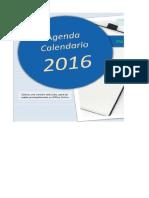 Agenda Calendario 2016 Sin Macros ClasesExcel