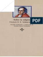 Schleiermacher Friedrich D E - Sobre La Religion
