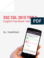SSC CGL Tier 2 English Paper