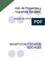 Evaluación de Proyectos y Programas Sociales Unidad III
