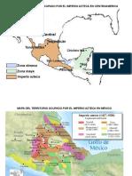Mapa Del Territorio Ocupado Por El Imperio Azteca en Centroamerica