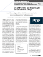 The Mechanism of Ductility Dip Cracking InNICRalloy