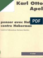 Penser Avec Habermas Contre Habermas (Karl-Otto Apel) FINAL
