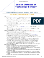 PHD ONLINE Application Procedure
