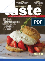 The 2010 Taste Magazine by Jacksonville Magazine.