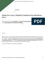 Notes From Anjum Rajabali's Screenwriting Workshop – Part I _ F.i.g.h.t C.l.u