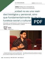 """Entrevista a Ignacio Calderón Almendros. """"La discapacidad no es una realidad biológica y personal, sino que fundamentalmente es de naturaleza social y cultural"""""""