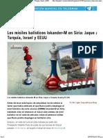 Los Misiles Balísticos Iskander-M en Siria_ Jaque a Turquía, Israel y EEUU - HispanTV, Nexo Latino