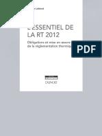 L'essentiel de La RT 2012 Obligations Et Mise en Oeuvre de La Réglementation Thermique