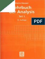 Harro Heuser - Lehrbuch Der Analysis. Teil 1