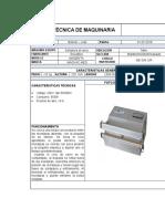 Ficha Técnica de Maquinaria