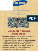 Consumer Buying BehavioronSamsung Mobile