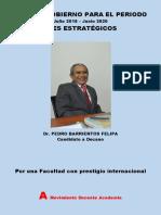 Plan de Gobierno. Dr. Pedro Barrientos