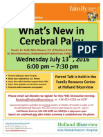 What's New in Cerebral Palsy?