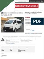 Nissan Urvan 2014 5p Amplia L4 2.5 Man Ventanas - Año 2014 - 33000 Km - Autoplaza2