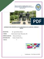 13) Criterios Para Desarrollar Las Destrezas de Clasificar, Ordenara y Seriar