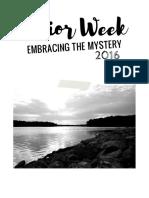 Midwest Bible Camp's Senior Week Memento Book
