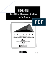Korg Trinity Manual - Expansion Option - HDR-TRI