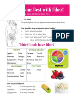 fiber for a healthy digestive system handout