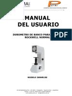 Manual Durometro 200HR150