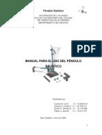 Manual Para El Uso Del Pendulo Balistico