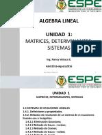 1.4 SISTEMAS DE ECUACIONES LINEALES 1.4.1.  1.4.2   1.4.3  1.4.4  1.4.5 pp1-14