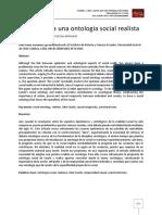 Aportes Para Una Ontologia Realista de Lo Social