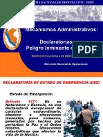 Exposición - Declaratorias de Emergencia