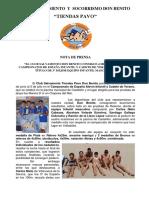Nota Prensa CSSDB