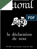 Littoral23-24 1987 Fontaine Sur Wolfson