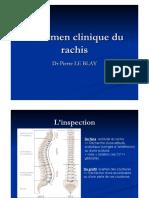Examen Clinique Rachis