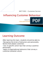 Topic 5 - Influencing Customer Behaviour (2)