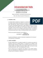 Informe Ley de Ohm