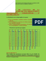 Ejercicios Resueltos de Calculo de La Concentracion de Una Disolucion.propiedades Coligativas.primero Bachillerato