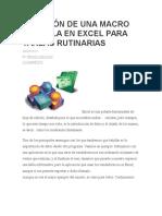 Creación de Una Macro Sencilla en Excel Para Tareas Rutinarias