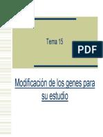 Ingenieria Genetica PDF Modificacion de los genes para su estudio
