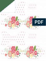 Printable Flower Polka Dot Paper Bow Red